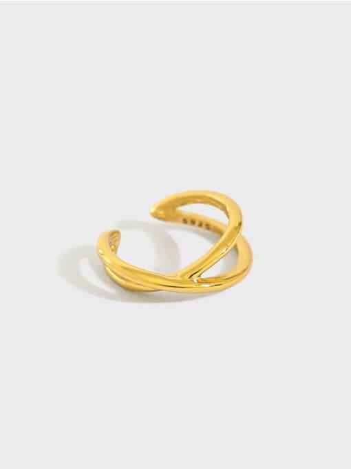 Dak Phoenix 925 Sterling Silver smooth Irregular Minimalist Clip Earring [Single]